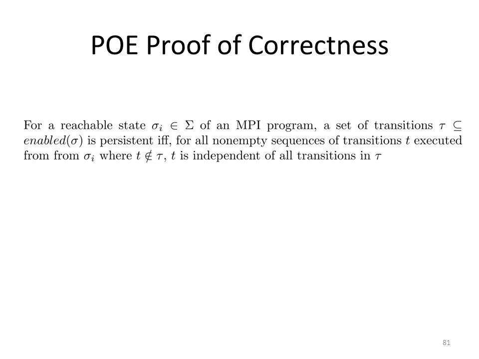 POE Proof of Correctness 81