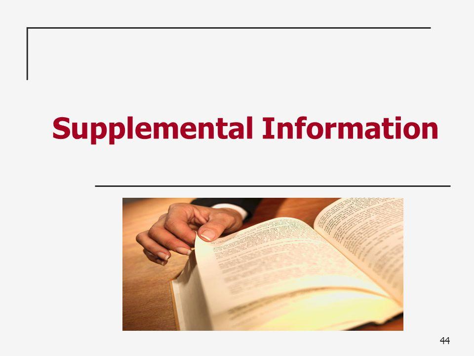 44 Supplemental Information
