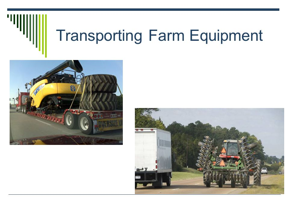 Transporting Farm Equipment