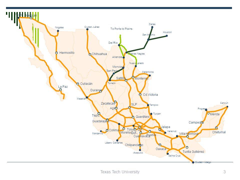 D.F. Piedras Negras SLP Querétaro Ciudad Hidalgo Salina Cruz Cancún Chilpancingo Oaxaca Hermosillo Chihuahua Durango La Paz Culiacán Monterrey Saltill