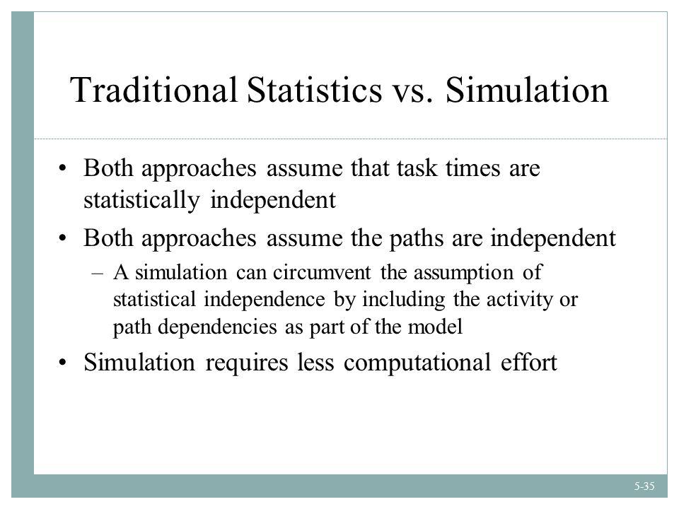 5-35 Traditional Statistics vs.
