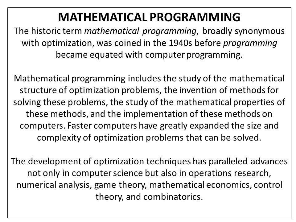 MULTI-OBJECTIVE OPTIMIZATION Adding more than one objective to an optimization problem adds complexity.