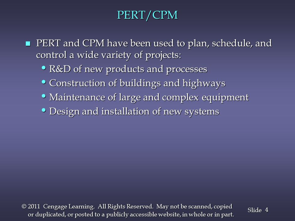 25 Slide © 2011 Cengage Learning.All Rights Reserved.