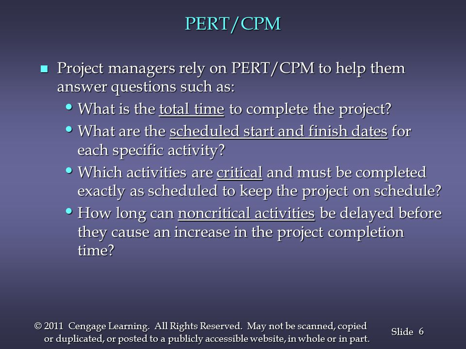 7 7 Slide © 2011 Cengage Learning.All Rights Reserved.