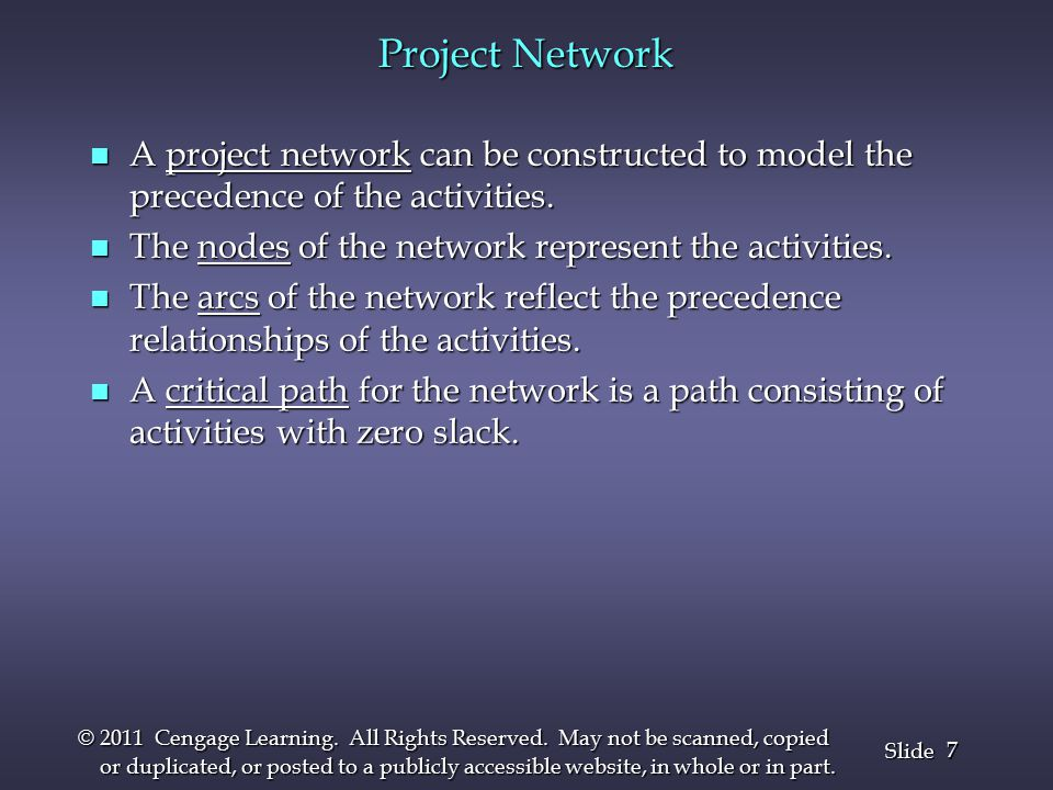 38 Slide © 2011 Cengage Learning.All Rights Reserved.