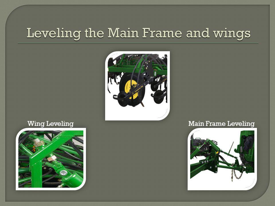 Wing LevelingMain Frame Leveling