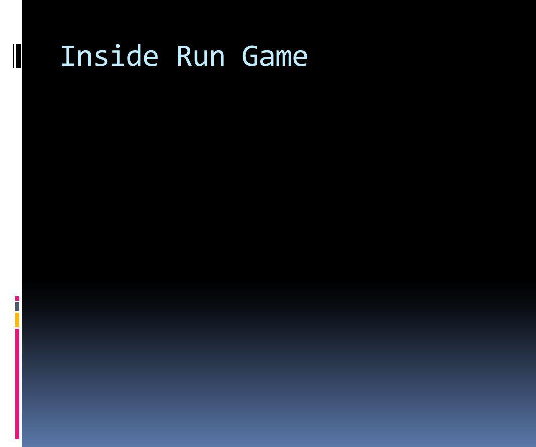 Inside Run Game