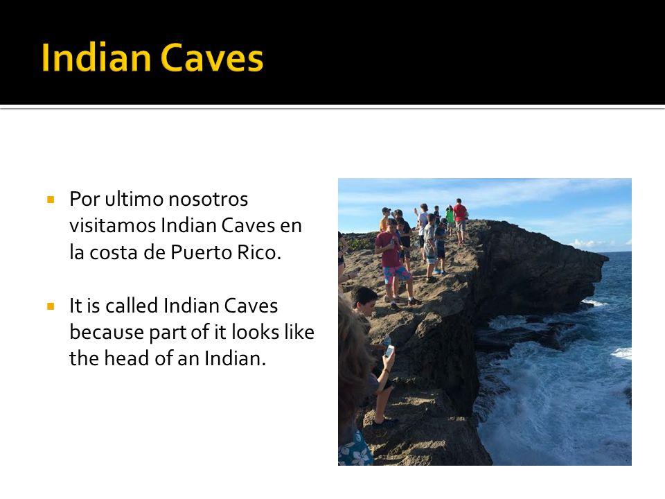  Por ultimo nosotros visitamos Indian Caves en la costa de Puerto Rico.