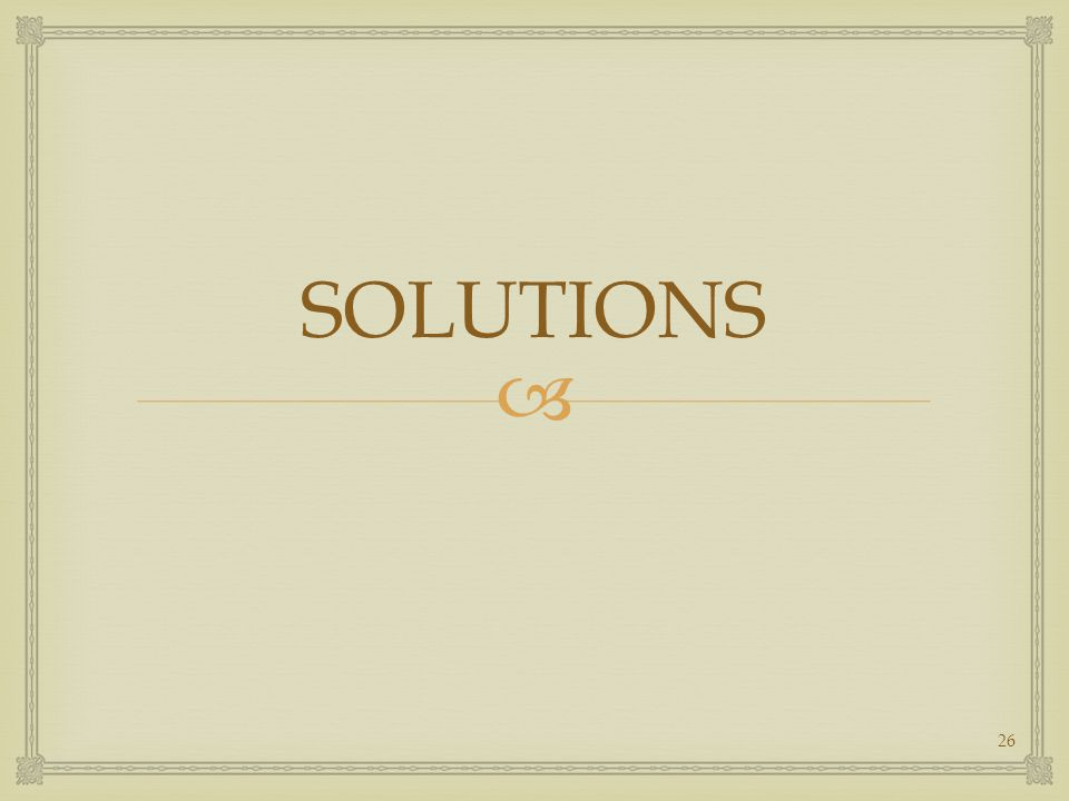  SOLUTIONS 26