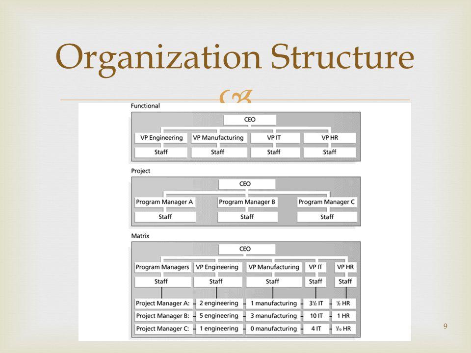  9 Organization Structure