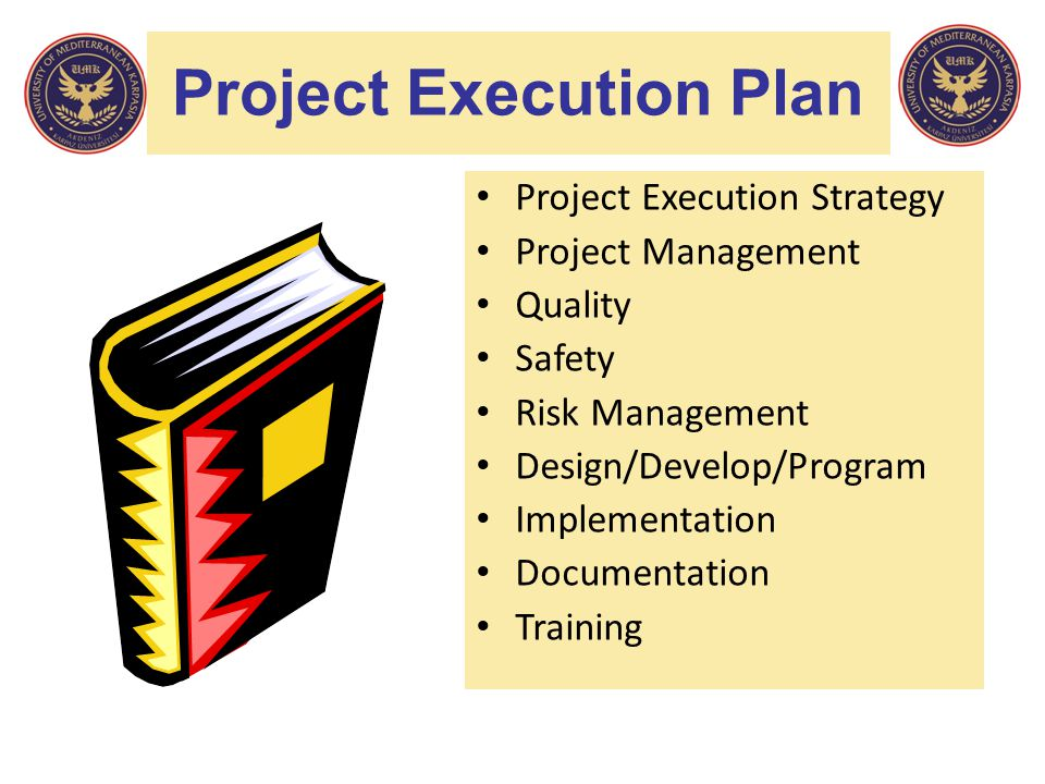 Project Execution Plan Project Execution Strategy Project Management Quality Safety Risk Management Design/Develop/Program Implementation Documentatio