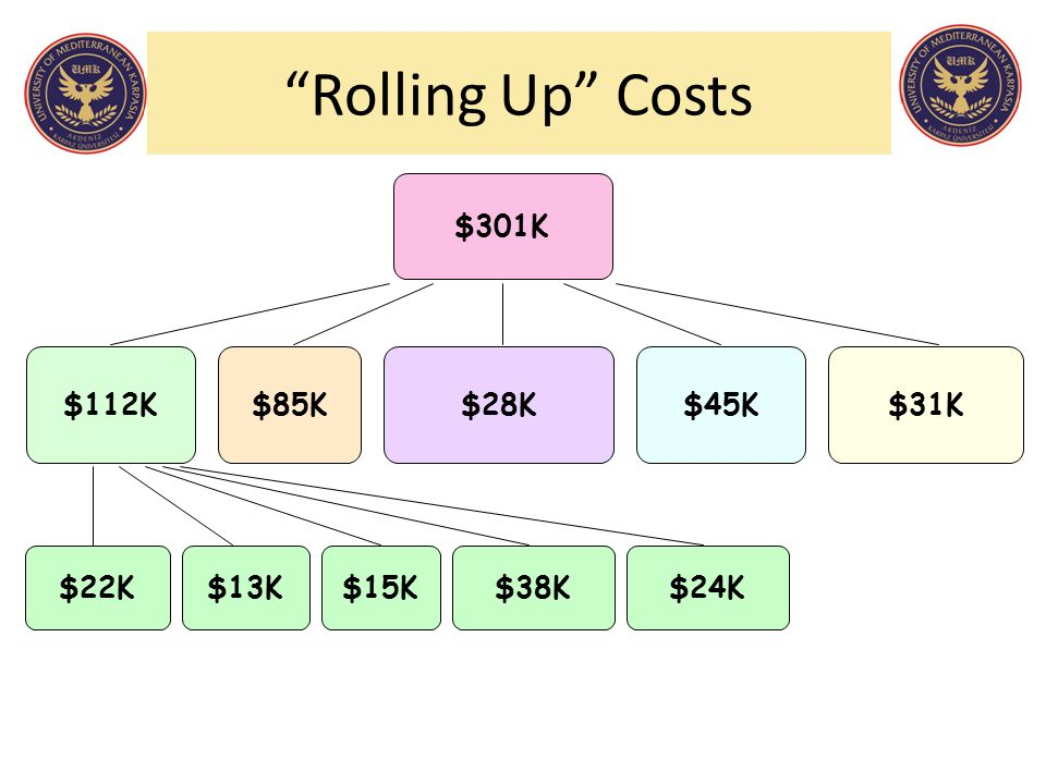 """Rolling Up"" Costs $15K$38K$13K$24K$22K $31K$112K$85K$28K$45K $301K"