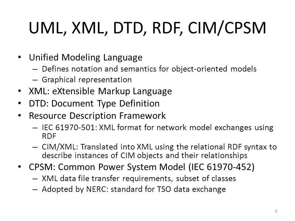 CIM/EMTP-RV Translation to a proprietary format – Topological data – Unique identifiers for devices – Device data – Specific model issues – Validation – Elimination of useless data for simulation Example: Extra breakers Usage of CIM/CPSM for filtering data – Object mapping ACLineSegment: PI-section ShuntCompensator: RLC EnergyConsumer: PQ load GeneratingUnits and SynchronousMachines: PV, PQ or slack – Graphical presentation Automatic drawing, positioning, positional data Various presentation aspects New requirements for existing applications 7