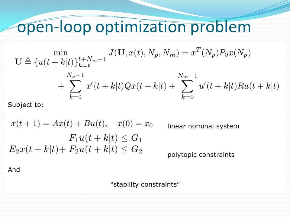 open-loop optimization problem