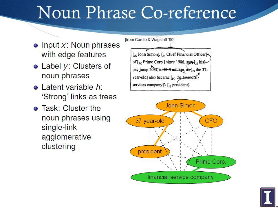 Noun Phrase Co-reference