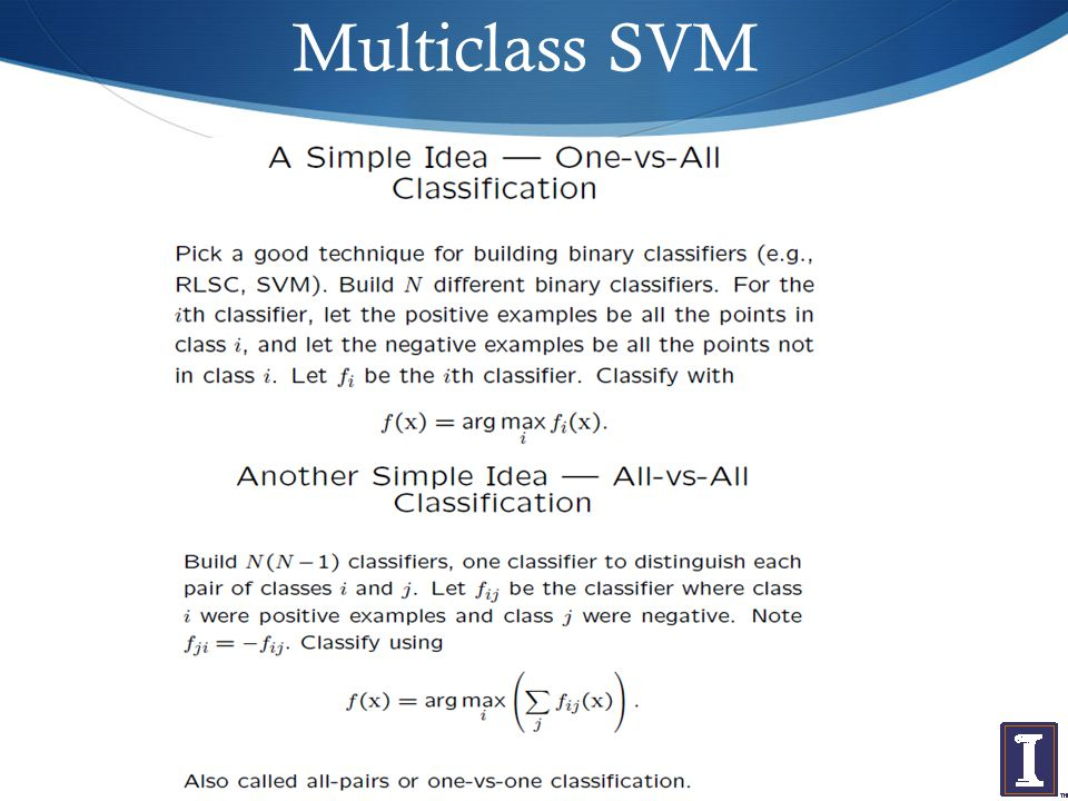 Multiclass SVM