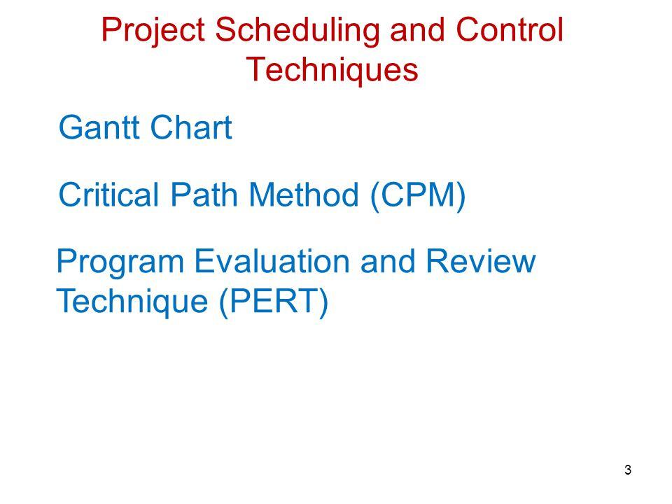 34 PERT– Program (Project) Evaluation and Review Technique