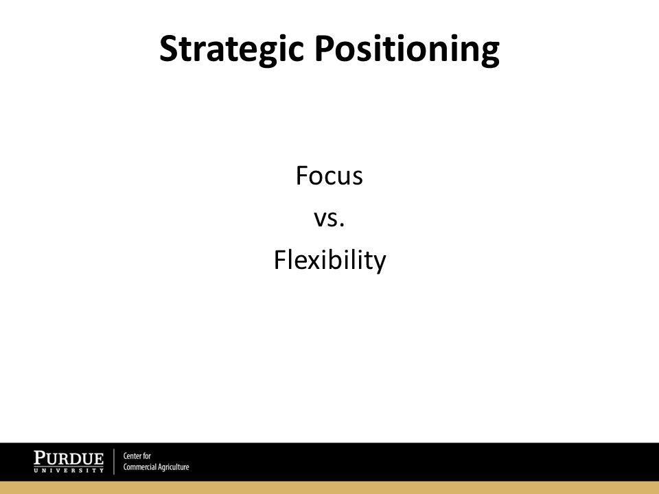 Strategic Positioning Focus vs. Flexibility