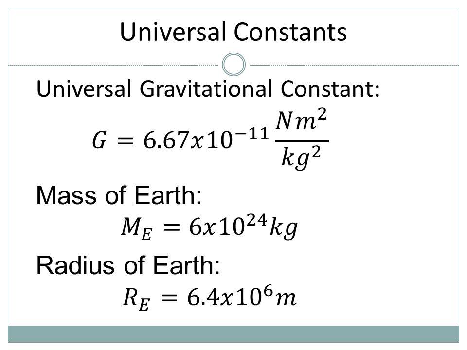 Universal Constants