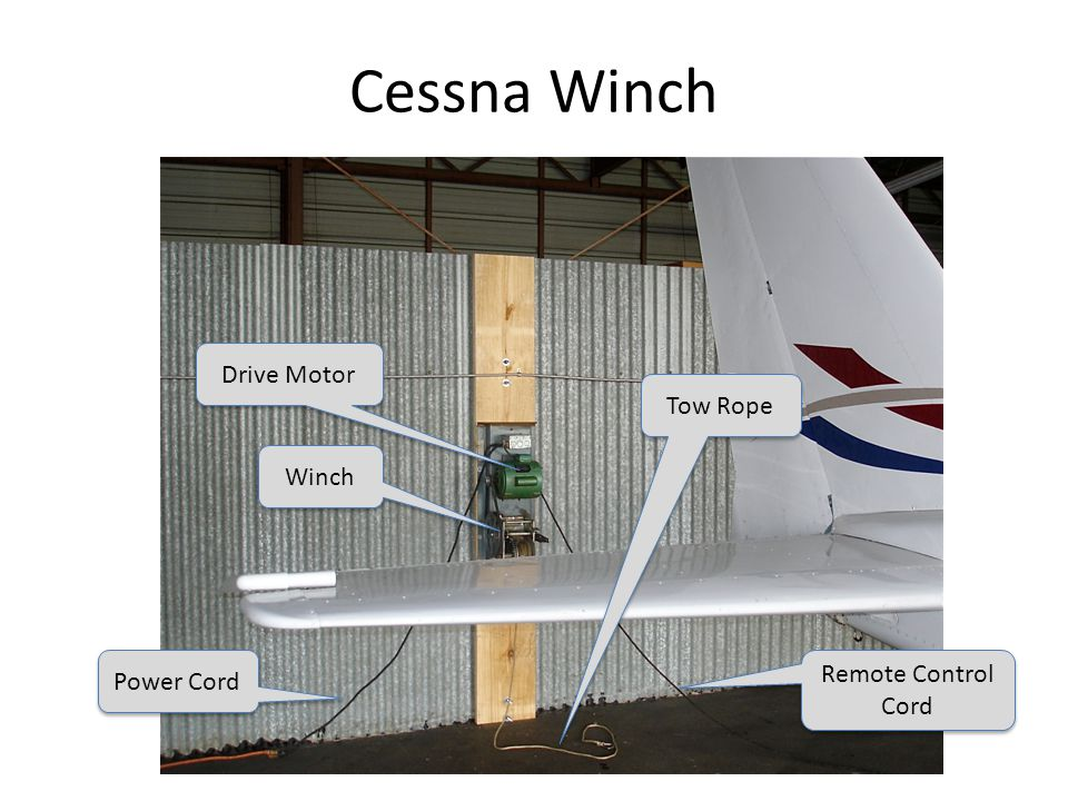 Cessna Winch Drive Motor Winch Power Cord Tow Rope Remote Control Cord