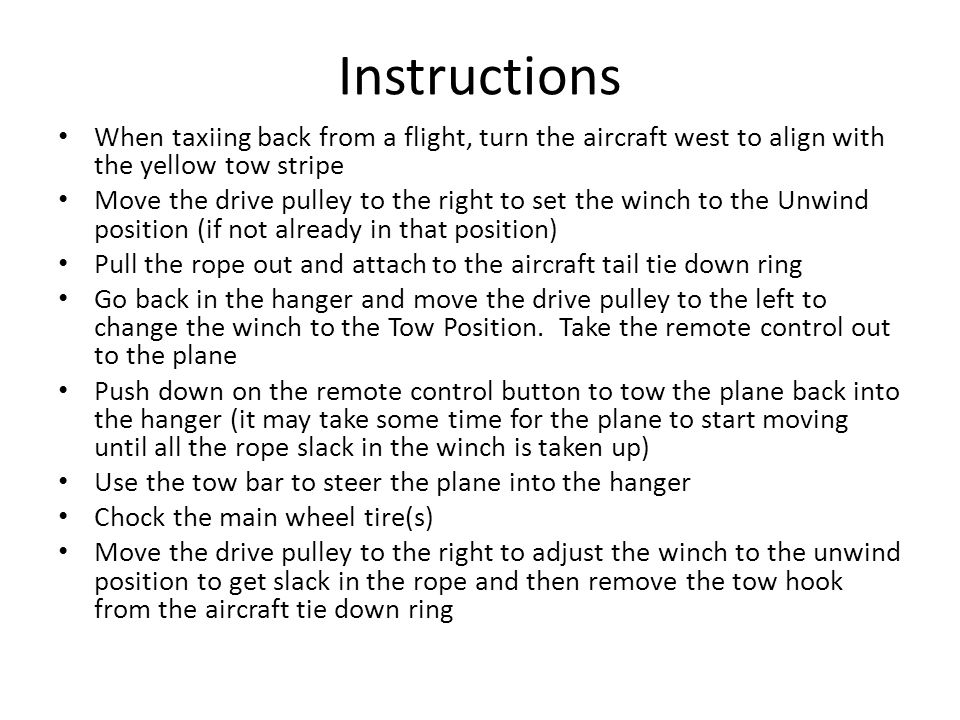 Rope Unwind Position Drive Pulley In right most position Drive Pulley In right most position Drive Pulley in idle (right most position) Drive Pulley in idle (right most position) Lock Lever in 2 nd Groove If rope doesn't unwind, this lever may need to be moved to unlock winch