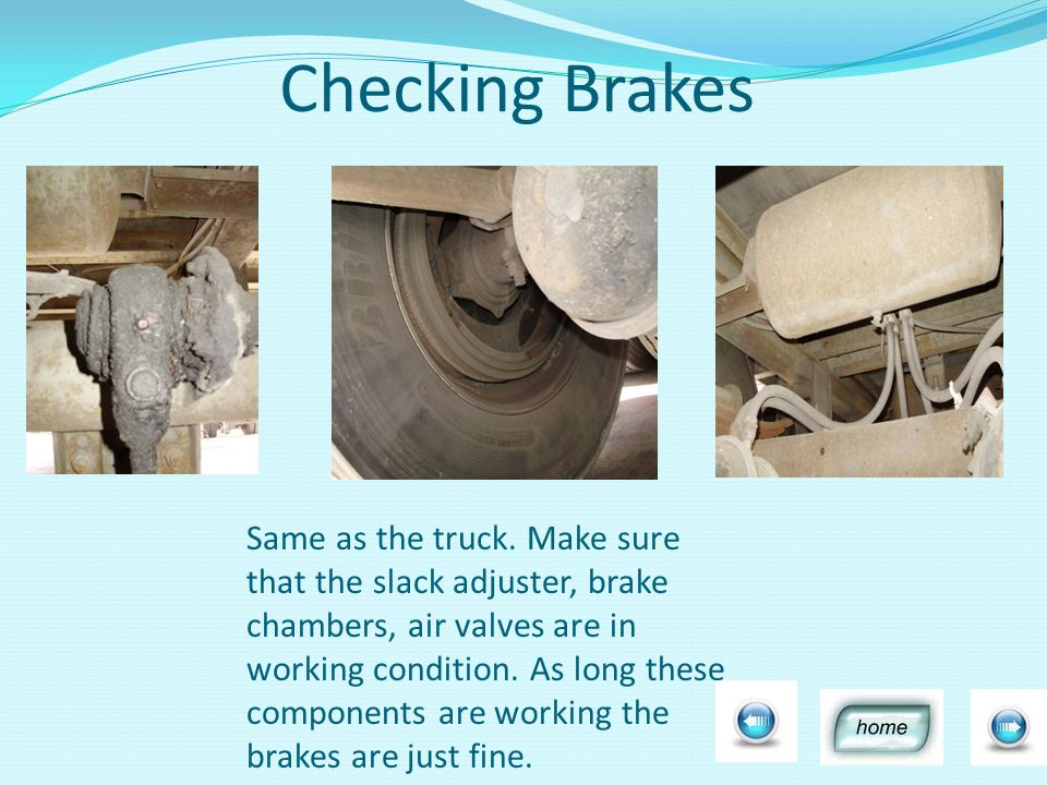 Checking Brakes Same as the truck.