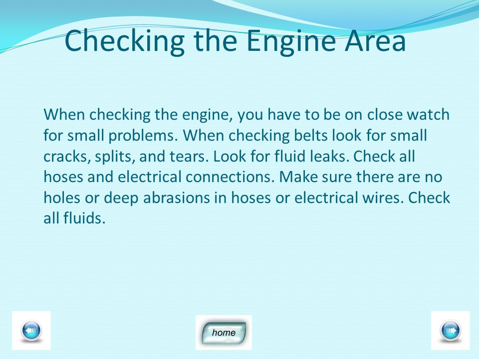 Checking Brakes When checking brakes the following components should be checked : Brake shoes Drums S- Cams Slack Adjuster Brake chambers Air lines fittings / Air Valves