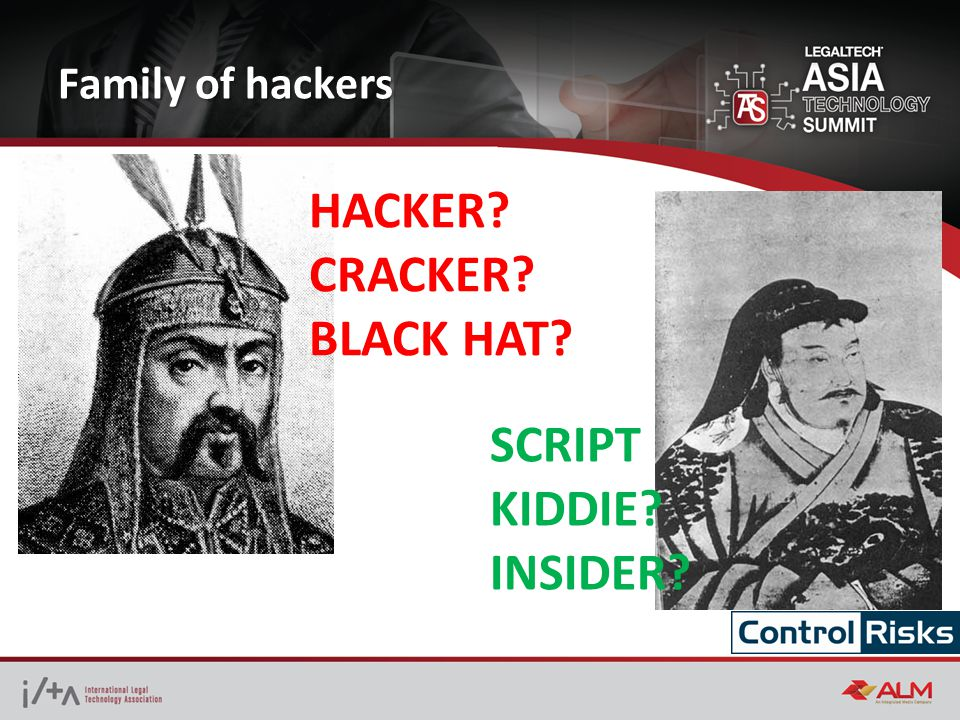 Family of hackers HACKER? CRACKER? BLACK HAT? SCRIPT KIDDIE? INSIDER?