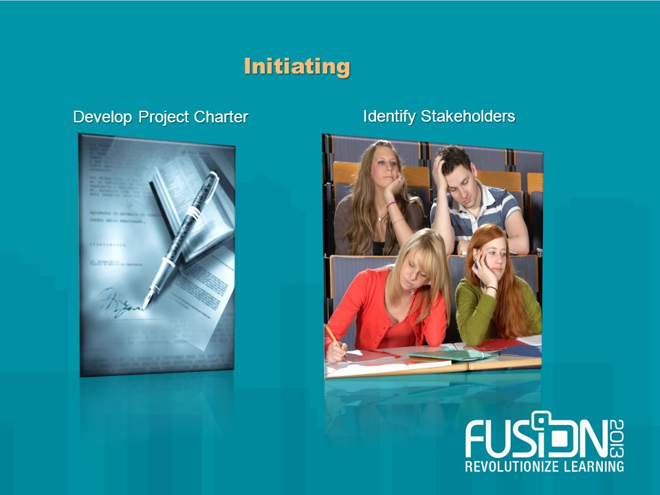Initiating Develop Project Charter Identify Stakeholders