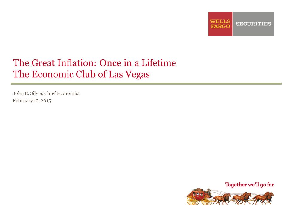 John E. Silvia, Chief Economist February 12, 2015 The Great Inflation: Once in a Lifetime The Economic Club of Las Vegas