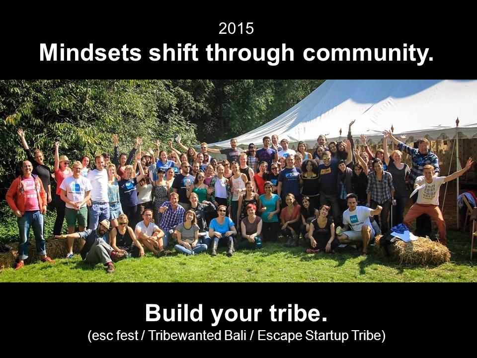 2015 Mindsets shift through community. Build your tribe.