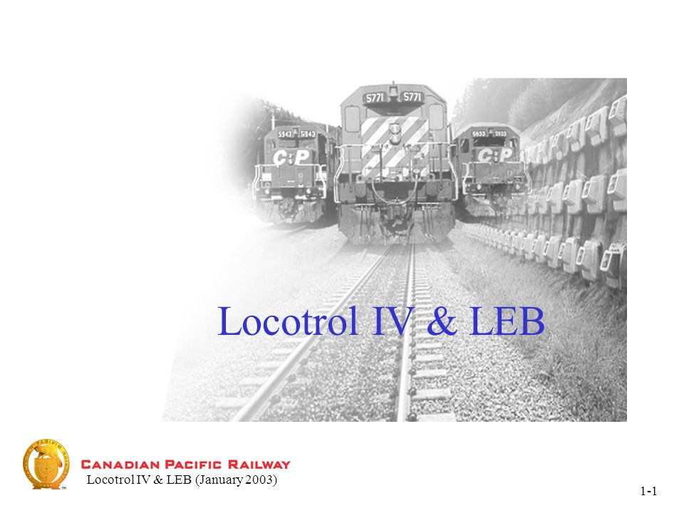 Locotrol IV & LEB1-12 UNIT KEY Unit Data Display