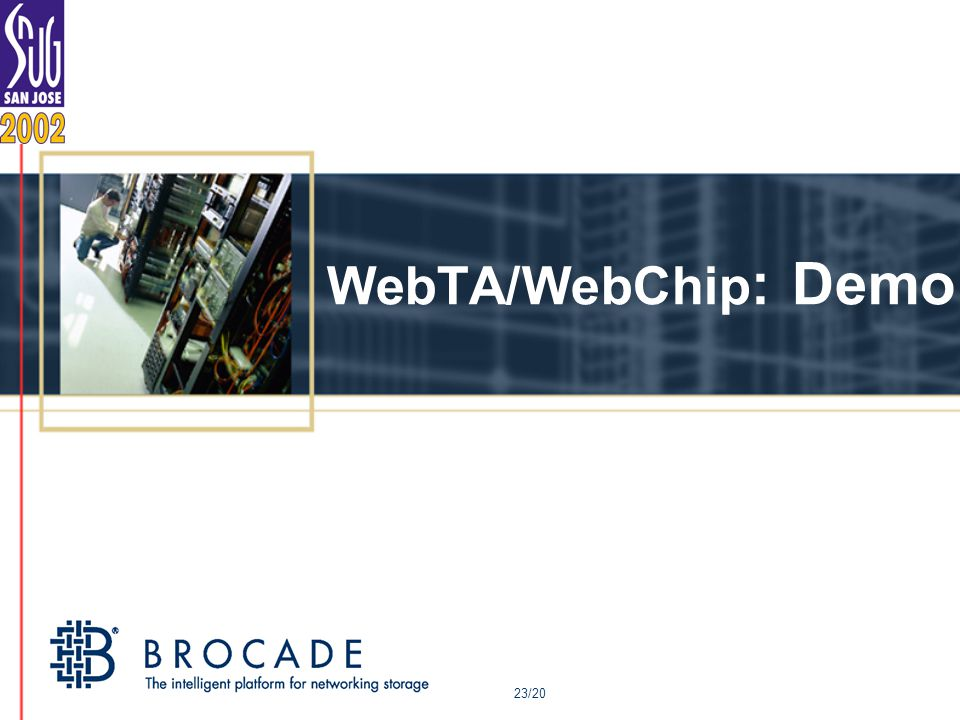 WebTA/WebChip : Demo 23/20