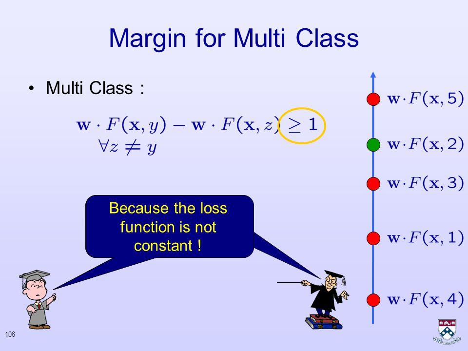 105 Binary : Multi Class : Margin for Multi Class