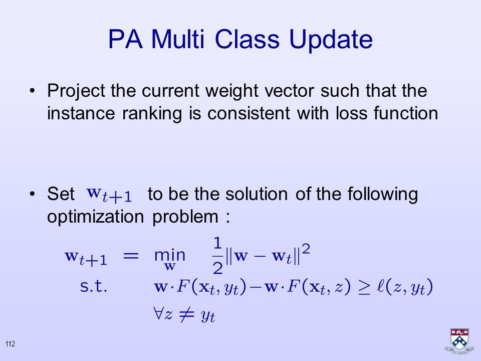 111 PA Multi Class Update