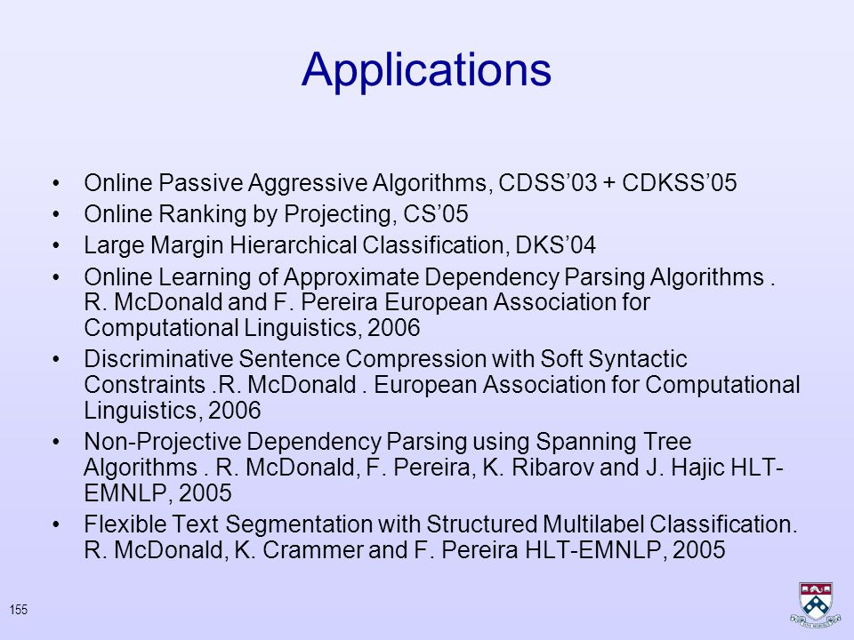 """154 Partial Bibliography Prediction, learning, and games. Nicolò Cesa-Bianchi and Gábor Lugosi Y. Censor & S.A. Zenios, """"Parallel Optimization"""", Oxfor"""