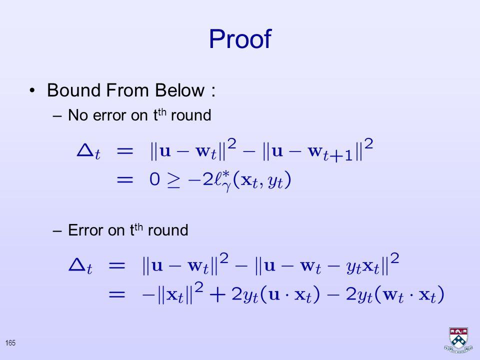 164 Proof Bound from above : Telescopic Sum Non-Negative Zero Vector
