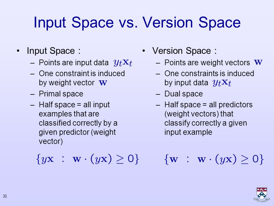 34 Input Space