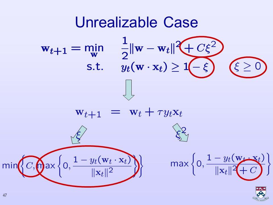 46 Unrealizable Case