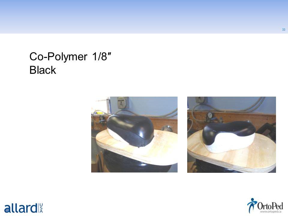 33 Co-Polymer 1/8″ Black