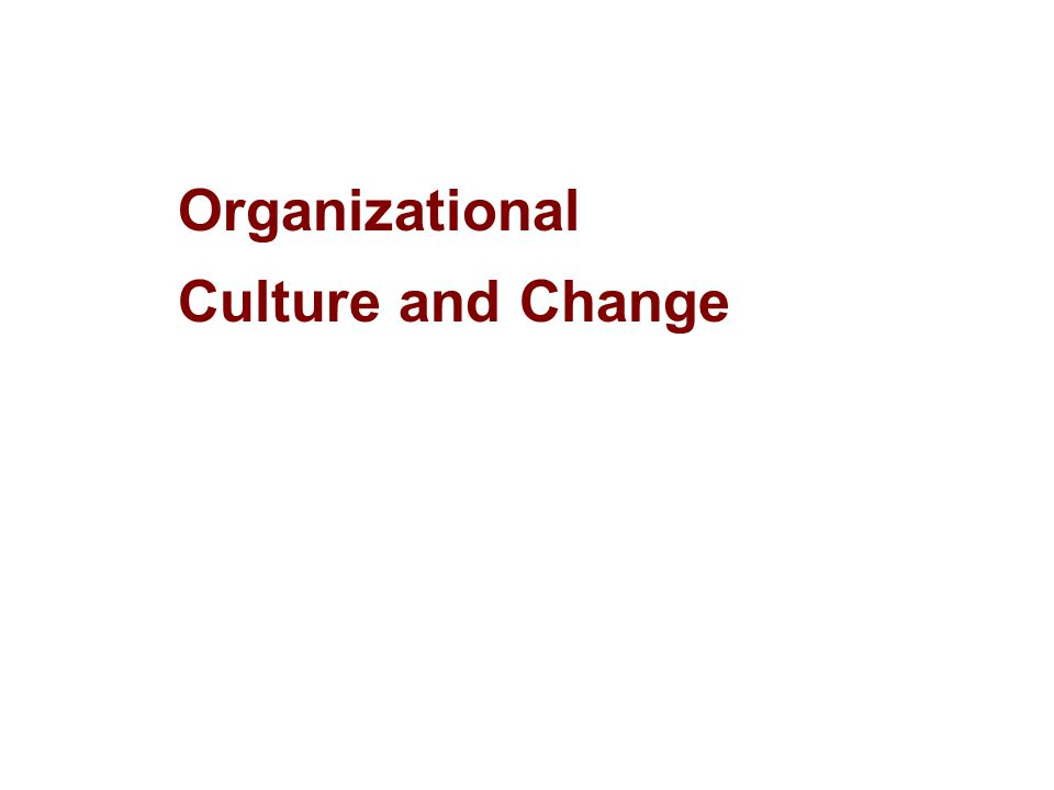 1Part Organisational Change Communicate the change translated into goals, sub goals, activities, and behaviors.