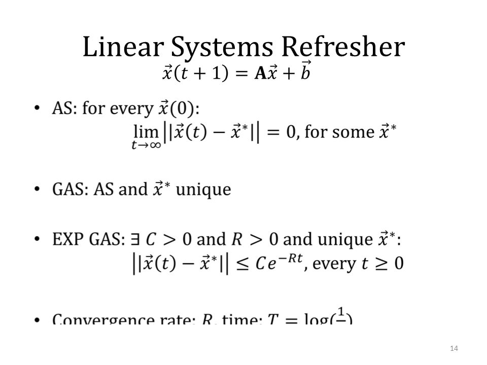 Linear Systems Refresher 14