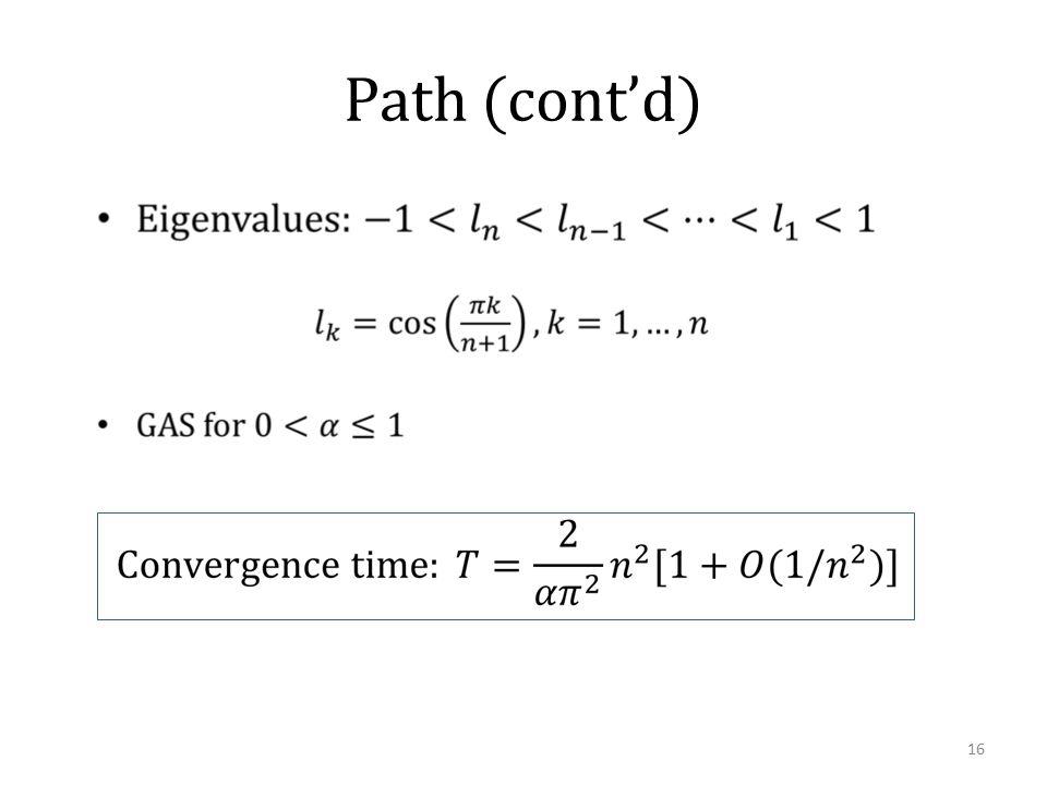 Path (cont'd) 16