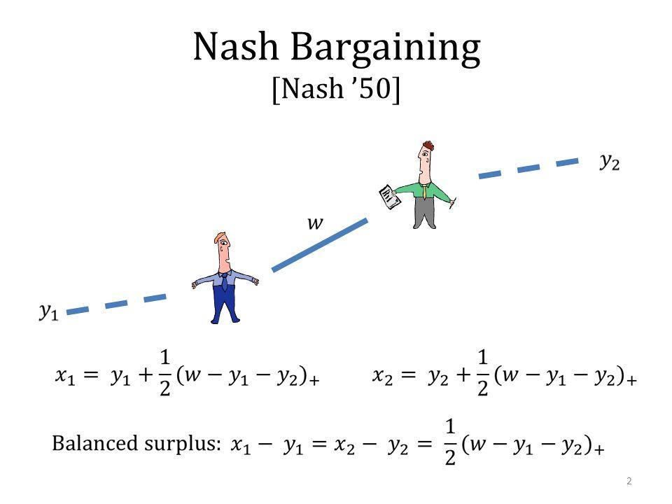 Nash Bargaining [Nash '50] 2