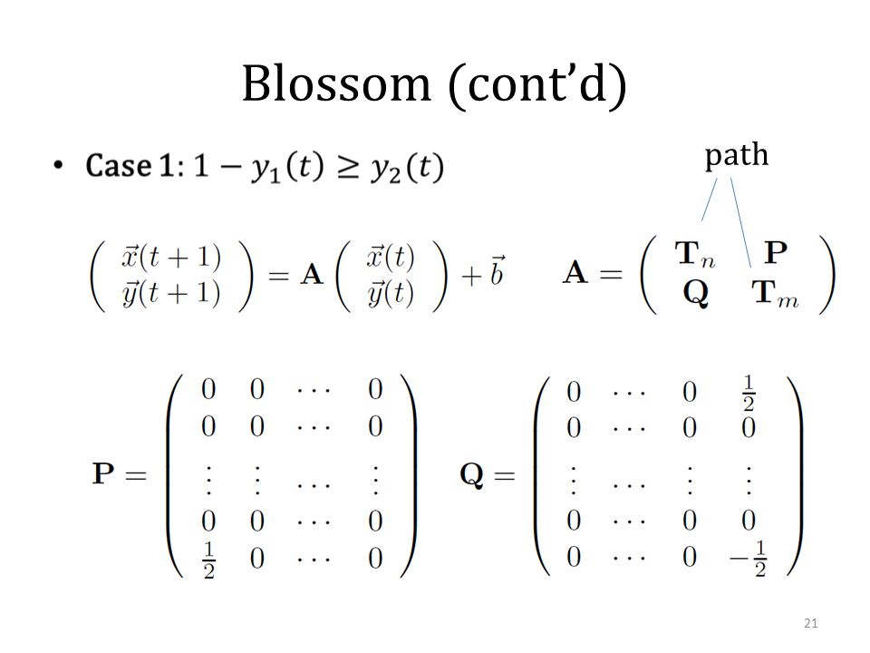 Blossom (cont'd) path 21