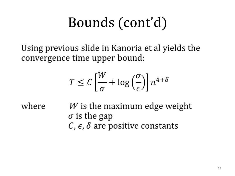 Bounds (cont'd) 33
