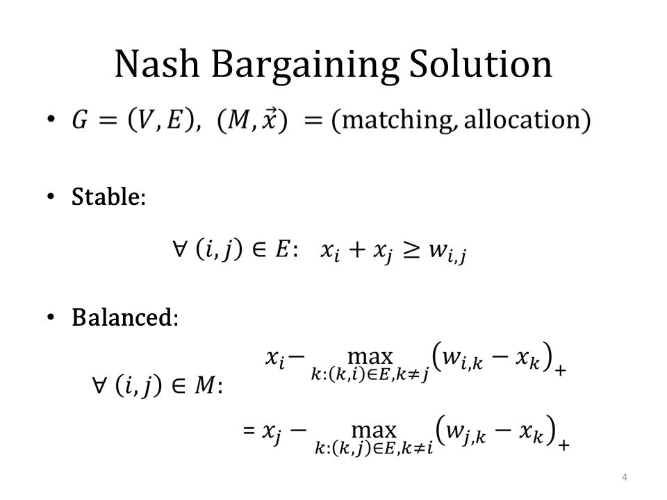 Facts about Stable and Balanced [Kleinberg and Tardos '08] 5