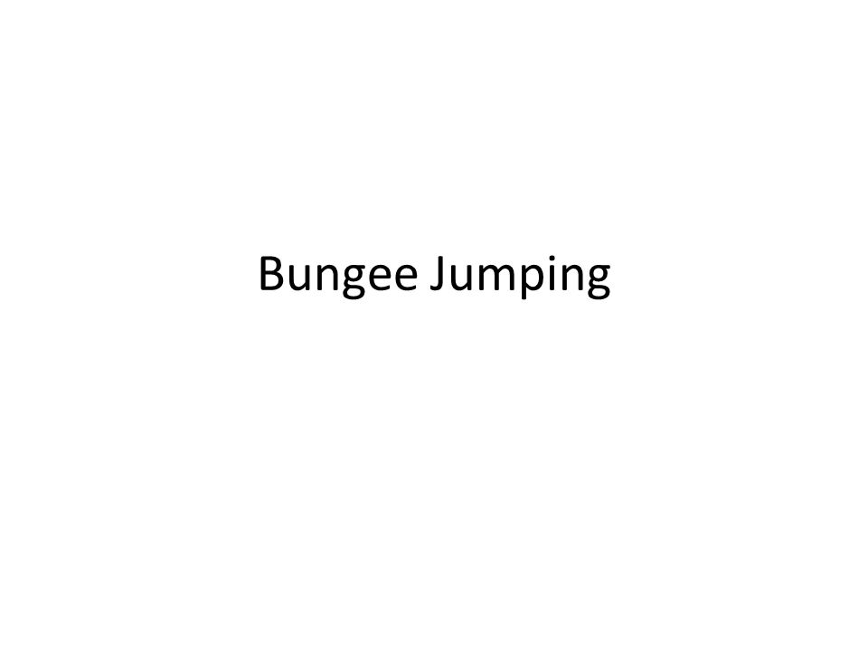 Bungee jumping has many different things that make it exhilarating.