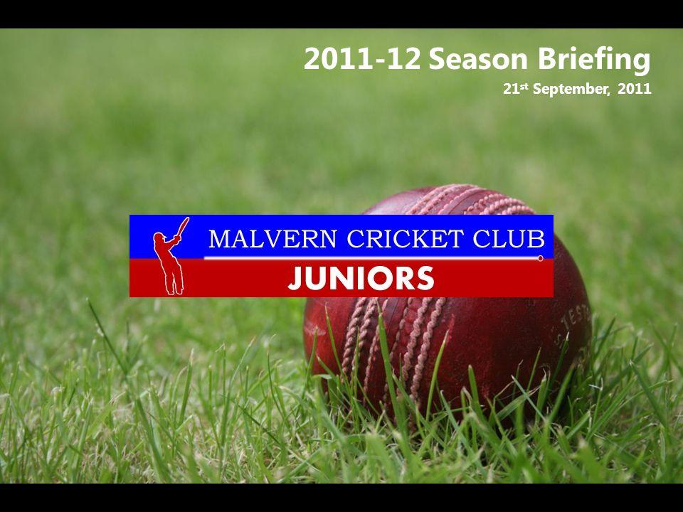2011-12 Season Briefing 21 st September, 2011