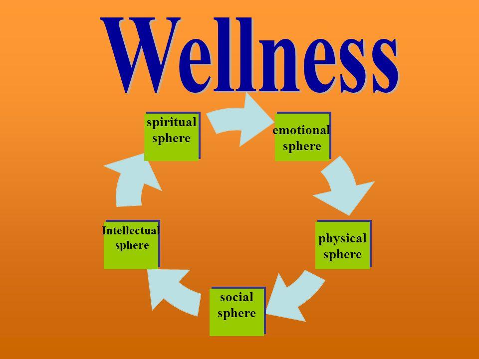 emotional sphere physical sphere social sphere Intellectual sphere spiritual sphere